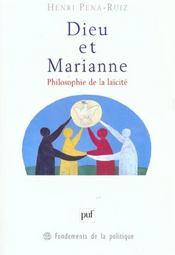 Dieu Et Marianne ; Philosophie De La Laicite - Intérieur - Format classique