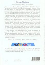 Dieu Et Marianne ; Philosophie De La Laicite - 4ème de couverture - Format classique