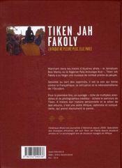 Tiken Jah Fakoly ; l'Afrique ne pleure plus, elle parle - 4ème de couverture - Format classique