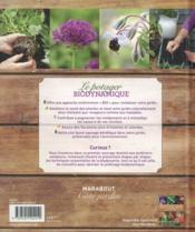 Le potager biodynamique - 4ème de couverture - Format classique