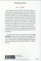 Petit piment - 4ème de couverture - Format classique