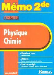 Memo physique chimie 2de - Intérieur - Format classique