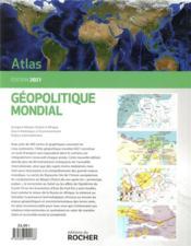 Atlas géopolitique mondial (édition 2021) - 4ème de couverture - Format classique