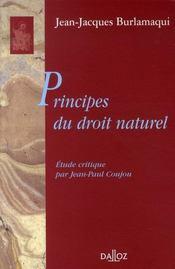 Principes du droit naturel - Intérieur - Format classique