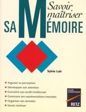 Savoir Maitriser Sa Memoire - Intérieur - Format classique