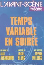 Temps variable en soiree - Couverture - Format classique