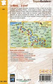Le Nord à pied ; 59 - PR - D059 (édition 2009) - 4ème de couverture - Format classique