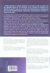 Penser autrement la pratique infirmière ; pour une créativité éthique - 4ème de couverture - Format classique