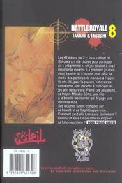 Battle royale t.8 - 4ème de couverture - Format classique