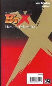 B'Tx t.15 ; hâte-toi, ô lumière - 4ème de couverture - Format classique