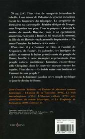 Titus t.2 ; le voile de Bérénice - 4ème de couverture - Format classique
