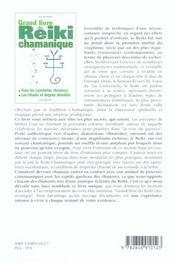 Grand livre du reiki chamanique - 4ème de couverture - Format classique
