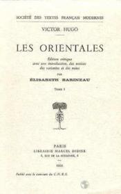 Les orientales t.2 - Couverture - Format classique