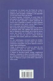Archeologie - Du Neolithique A La Revolution Industrielle - 4ème de couverture - Format classique
