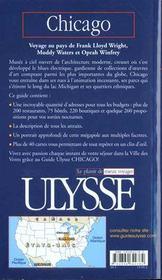 Guide Ulysse ; Chicago ; 2e Edition - 4ème de couverture - Format classique