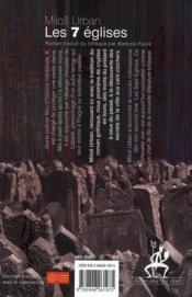 Les sept églises - 4ème de couverture - Format classique