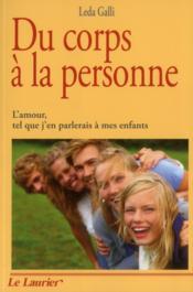 Du Corps A La Personne - Couverture - Format classique