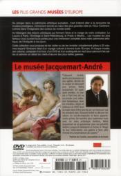 Le musee Jacquemart-André, Paris - 4ème de couverture - Format classique