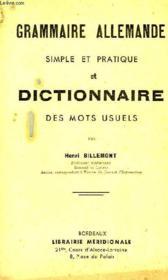 Grammaire Allemande Simple Et Pratique, Et Dictionnaire Des Mots Usuels - Couverture - Format classique