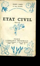 Etat Civil. Sketch. - Couverture - Format classique