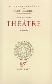 Oeuvres complètes t.9 - Couverture - Format classique
