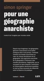 Pour une géographie anarchiste - Couverture - Format classique