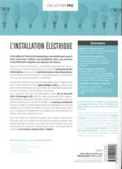 L'installation électrique (7e édition) - 4ème de couverture - Format classique
