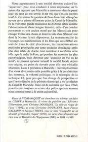 Les Ruisseaux, Le Canal Et La Mer ; Les Eaux De Marseille - 4ème de couverture - Format classique