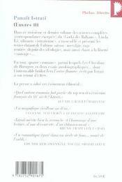 Oeuvres t.3 - 4ème de couverture - Format classique