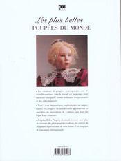 Les Plus Belles Poupees Du Monde - 4ème de couverture - Format classique