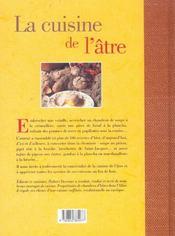 La Cuisine De L'Atre - 4ème de couverture - Format classique