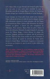 Marco polo, t.i : la caravane de venise - 4ème de couverture - Format classique