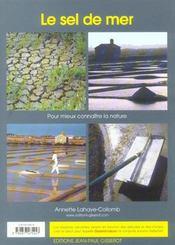 Le Sel De Mer - 4ème de couverture - Format classique