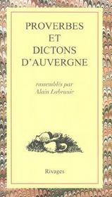 Proverbes Et Dictons D'Auvergne - Intérieur - Format classique