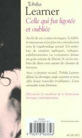Celle Qui Fut Ligotee Et Oubliee - 4ème de couverture - Format classique