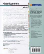 Microéconomie (7e édition) - 4ème de couverture - Format classique