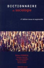 Dictionnaire de sociologie (4e édition) - Couverture - Format classique
