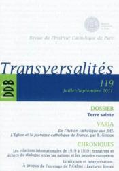 Revue Transversalites N119 - Couverture - Format classique
