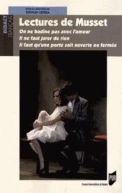 Lectures de Musset - Couverture - Format classique