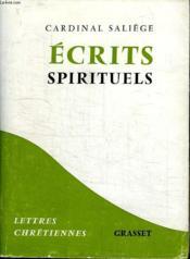 Ecrits Spirituels. - Couverture - Format classique