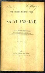 Saint Anselme. - Couverture - Format classique