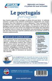 Le portugais ; débutants et faux-débutants B2 - 4ème de couverture - Format classique