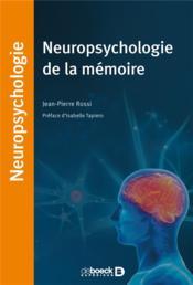 Neuropsychologie de la mémoire - Couverture - Format classique