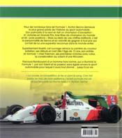 Ayrton Senna ; un pilote de légende - 4ème de couverture - Format classique