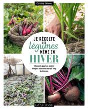 Je récolte des légumes, même en hiver ; conseils pour un jardin potager productif tout au long de l'année - Couverture - Format classique
