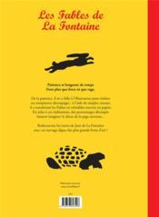Les fables de La Fontaine - 4ème de couverture - Format classique