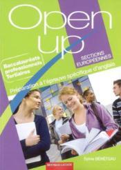 Open up ; anglais ; bac pro tertiaires sections européennes ; manuel de l'élève - Couverture - Format classique