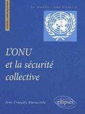 L'ONU et la sécurité collective - Couverture - Format classique