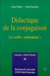 Didactique De La Conjugaison - Couverture - Format classique
