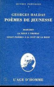 Poemes De Jeunesse - Couverture - Format classique